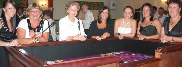 Ladies taking over the craps table with their luck!